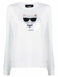 Karl Lagerfeld Ikonik Choupette sweatshirt - White