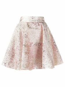 Dolce & Gabbana crushed velvet skater skirt - PINK