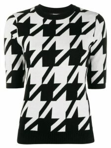 Philo-Sofie houndstooth knitted top - Black