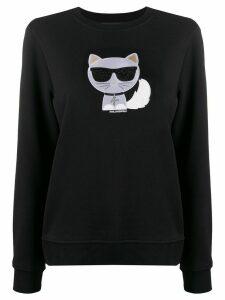 Karl Lagerfeld Ikonik Choupette sweatshirt - Black