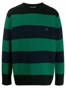 Acne Studios Oversized striped jumper - Green
