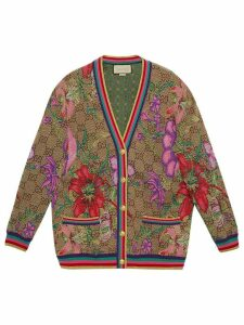 Gucci GG Flora jacquard cardigan - NEUTRALS