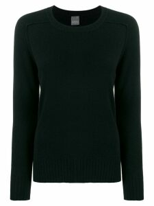 Lorena Antoniazzi cashmere ribbed neck jumper - Black