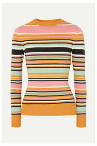 JoosTricot - Striped Cotton-blend Sweater - Saffron