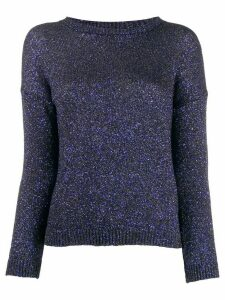 Saint Laurent glitter crew neck sweater - Blue