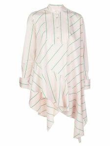 Palmer / Harding striped asymmetric hem shirt - PINK