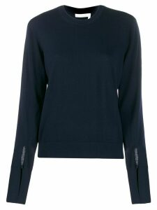 Chloé slitted cuffs jumper - Blue