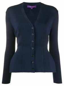 Ralph Lauren Collection V-neck peplum cardigan - Blue