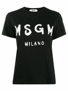 MSGM Milano logo print T-shirt - Black