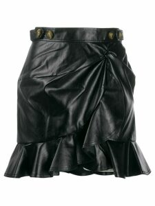 Self-Portrait asymmetric skirt - Black