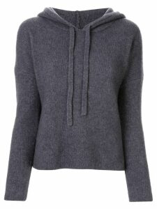James Perse regular-fit knitted hoodie - Grey