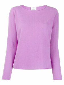 Allude crew neck jumper - PURPLE