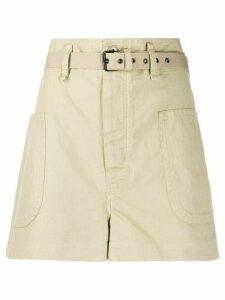 Isabel Marant Étoile high waisted bush shorts - NEUTRALS