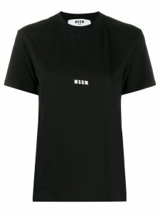 MSGM small logo printed T-shirt - Black