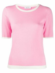 Philo-Sofie contrast trim knit top - PINK