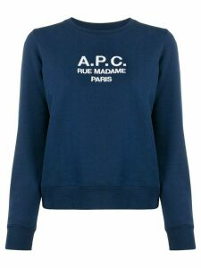 A.P.C. logo knitted top - Blue