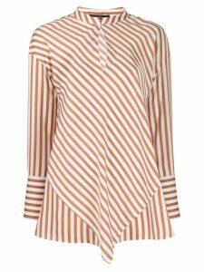 Steffen Schraut striped poplin shirt - Brown