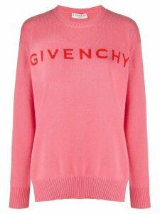 Givenchy logo cashmere jumper - PINK