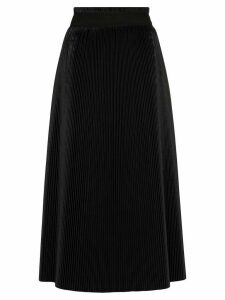 Jil Sander Marzia pleated midi skirt - Black