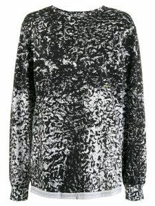 Eckhaus Latta long sleeve textural printed jumper - Black
