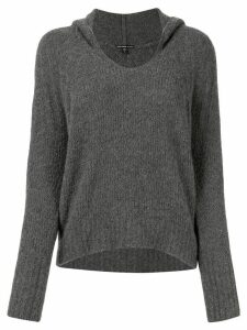 James Perse relaxed-fit knitted hoodie - Grey