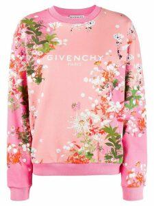 Givenchy logo floral print sweatshirt - PINK