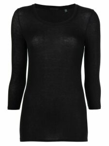 Atm Anthony Thomas Melillo Modal Rib Ballet Neck 3/4 Sleeve Tee -
