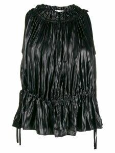 16Arlington wrinkled drawstring-waist top - Black