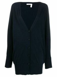 See by Chloé knitted long cardigan - Blue