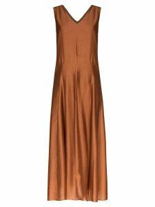 Missing You Already sleeveless midi dress - Brown