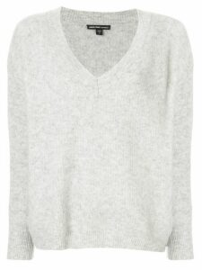James Perse oversized V-neck jumper - Grey