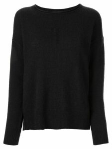 James Perse panelled cashmere jumper - Black
