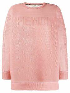 Fendi mesh logo sweatshirt - PINK