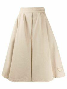 Prada pleated A-line skirt - NEUTRALS