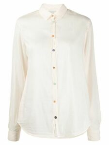 Forte Forte long-sleeved contrasting-buttons shirt - NEUTRALS