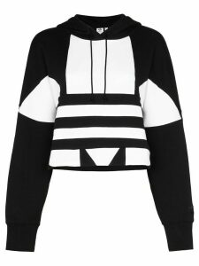 adidas macro logo hoodie - Black