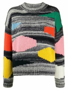 Essentiel Antwerp Vister block color knit jumper - Grey