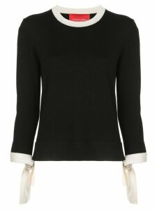 Carolina Herrera tie cuff jumper - Black