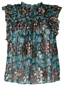 Ulla Johnson floral shift sleeveless blouse - Blue