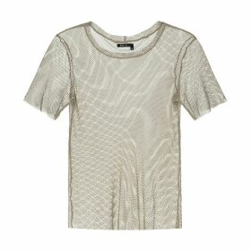 EVA D. - Beige Mesh T-Shirt For Men & Women