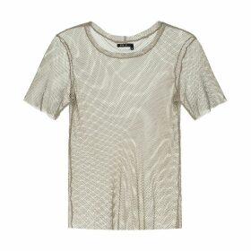 EVA D. - Beige Mesh T-Shirt For Men & Women