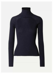 Carcel - Ribbed Baby Alpaca Turtleneck Sweater - Navy