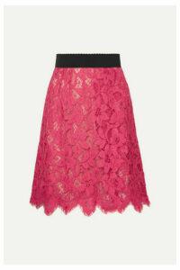 Dolce & Gabbana - Guipure Lace Skirt - Pink
