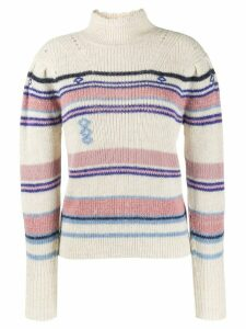 Isabel Marant Étoile striped rollneck sweater - NEUTRALS