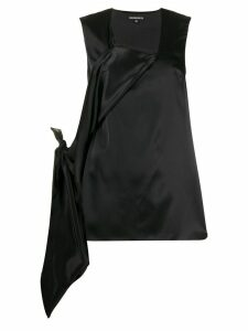 Ann Demeulemeester deconstructed sleeveless blouse - Black