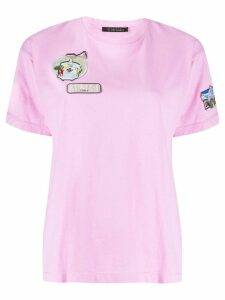 Mr & Mrs Italy embroidered patch shirt - PINK