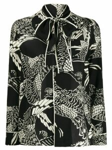 RedValentino Phoenix print silk shirt - Black