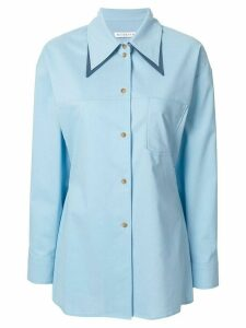 Rejina Pyo double collar loose-fit shirt - Blue