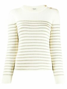 Saint Laurent striped knitted jumper - NEUTRALS