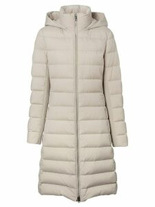 Burberry hooded padded coat - White